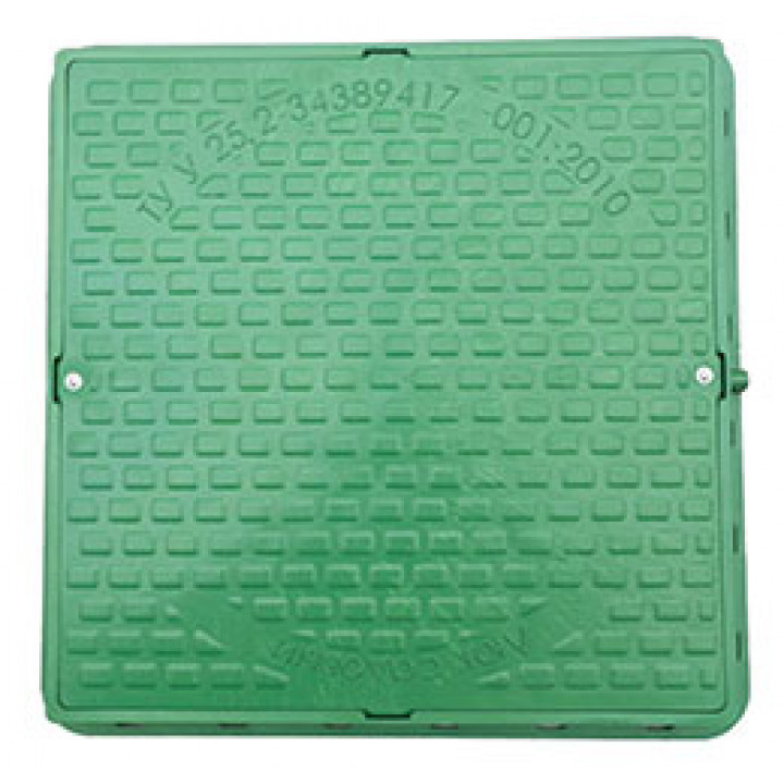 Люк смотровой садовый квадратный (зеленый)