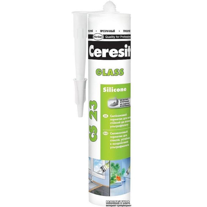 Ceresit CS 23 Силиконовый герметик для стекла
