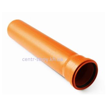 Труба для наружной канализации 100 мм (2 м) 3,2 мм