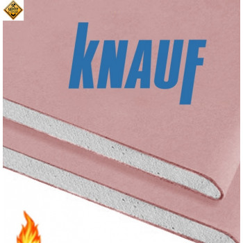 KNAUF Гипсокартон огнеупорный. 12,5 (1,2*2,5) (Украина)