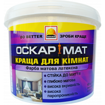 BUILDER ОСКАРМАТ краска интерьерная матлатекс 14 кг