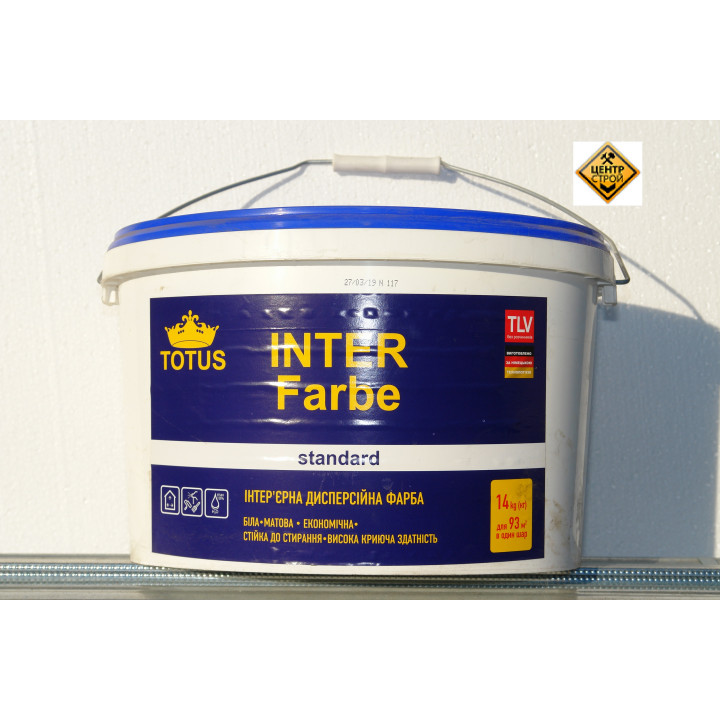 TOTUS Inter Farbe Краска интерьерная дисперсионная 14кг